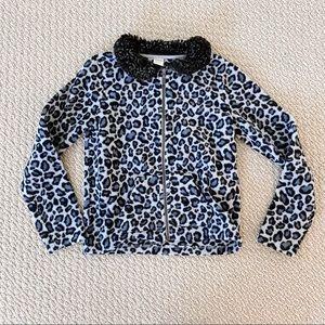 Gymboree Grey Leopard Print Jacket